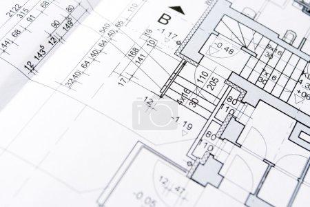 Photo pour Les plans du projet de logement, le fond ou la texture - image libre de droit
