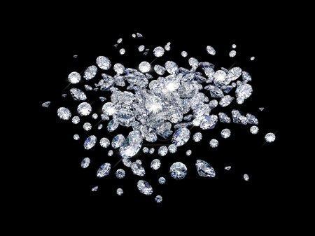 A lot of diamonds