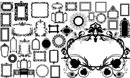 Photo for Vintage picture frame. made in Vector - Royalty Free Image