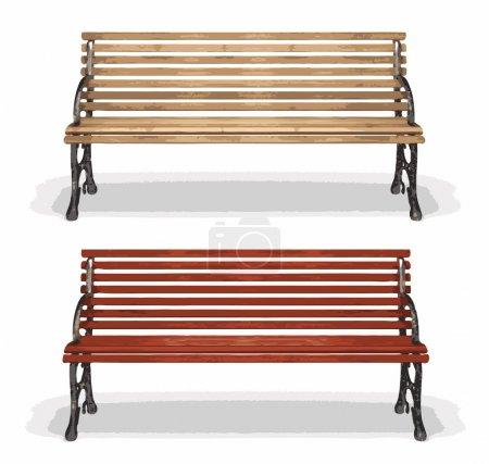 Wooden bench (vector)