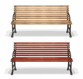 Wooden bench (vector)