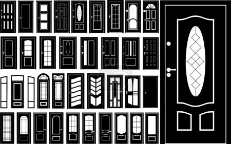 Illustration for Biggest doors collection made in vector - Royalty Free Image