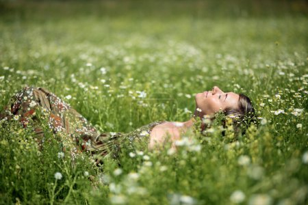 Relax on meadow