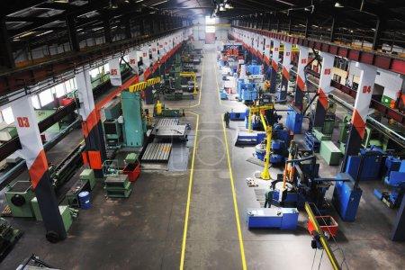 Factory indoor interior