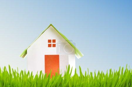 Photo pour Nouveau concept de maison avec herbe - image libre de droit