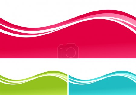 Illustration for Three color waves: red, green, blue - Royalty Free Image