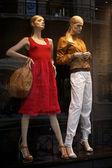 Mannequins in clothes shop