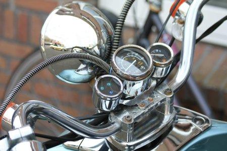 Cockpit of a vintage motorbike