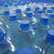 Detail of stack bottled water in industry...