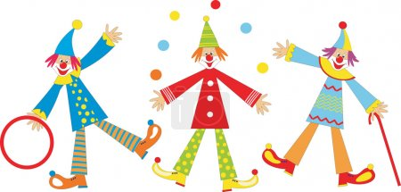 Illustration for Cute funny clown juggling. Illustration - Royalty Free Image