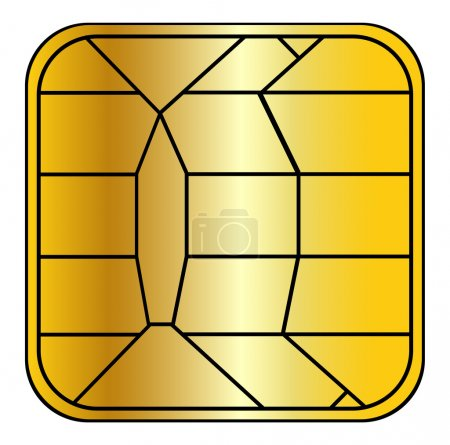 Photo for Creditcard chip - Royalty Free Image