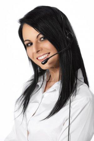 Customer Service Operator-Isolated