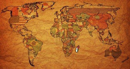 Мадагаскар на карте мира с