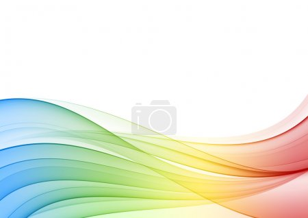 Abstract multicolor wave