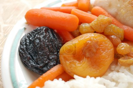 Stewed carrots with rice