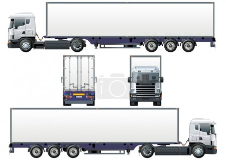 Photo for Vector delivery / cargo semi-truck - Royalty Free Image