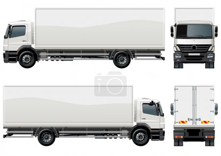 Illustration for Vector delivery / cargo truck - Royalty Free Image