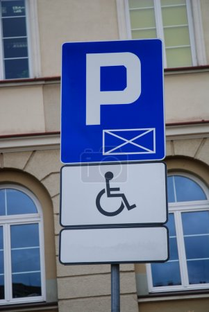 Sign for disabled parking