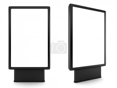 Blank advertising billboard isolated