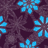 Ornament background with flowers  patt