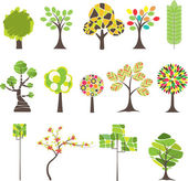 Set of Colorful tree Vector illustration