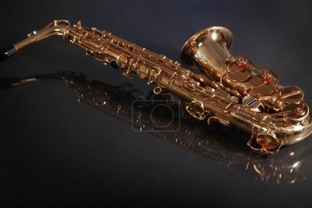 Saxophone on black
