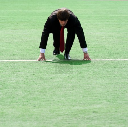 Businessman on the field