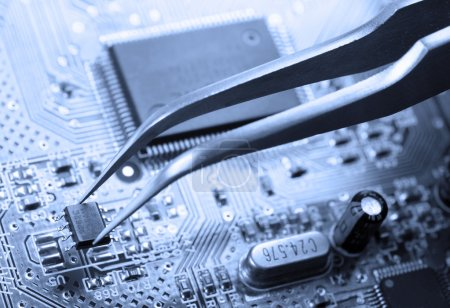 Photo for Assembling a circuit board - Royalty Free Image