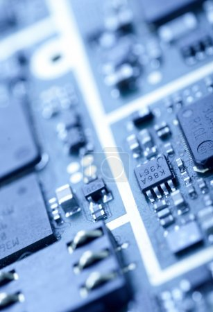 Photo for Close-up photo of mainboard - Royalty Free Image