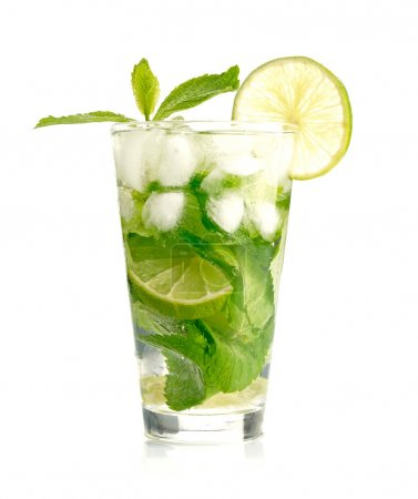 Photo for Mojito cocktail on white background - Royalty Free Image