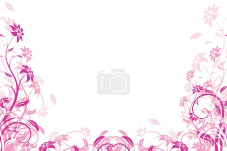 Photo for Abstract Background with flowers and butterfly for your design - Royalty Free Image