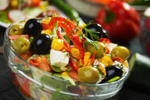 Delicious mediterranean cheese and olives salad