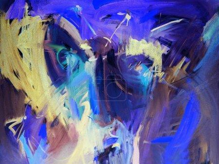 Photo pour Toiles de fond abstrait bleu - image libre de droit