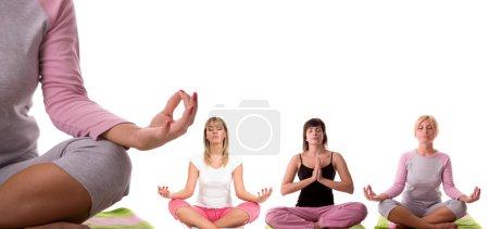 Photo pour Collection de posture de méditation. - image libre de droit
