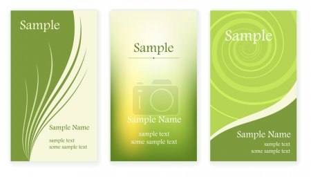 Illustration for Set of business cards templates. Vector illusrtation. - Royalty Free Image