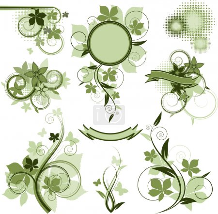Photo for Collection of vector design elements over white. EPS 8, AI, JPEG - Royalty Free Image