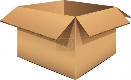 Illustration pour Boîte en carton vide sur blanc. SPE 8, AI, JPEG - image libre de droit