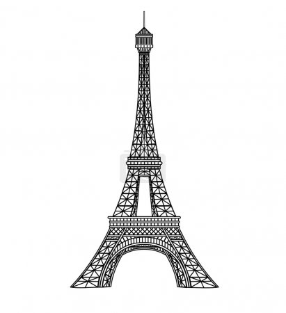 Eiffel tower illustration