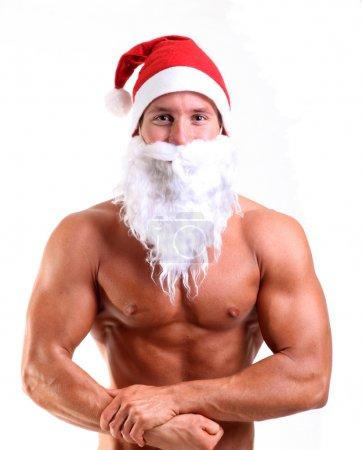 Muscular santa claus