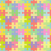 Seamless (you see 4 tiles) jigsaw puzzle pattern (print background wallpaper swatch) of pastel colors classic style pieces