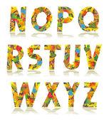 Autumn alphabet set letters N - Z