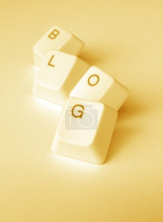 Photo for Computer keys with blog word - Royalty Free Image