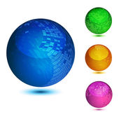 Glossy colorful abstract globes with different mosaic patterns EPS10 file