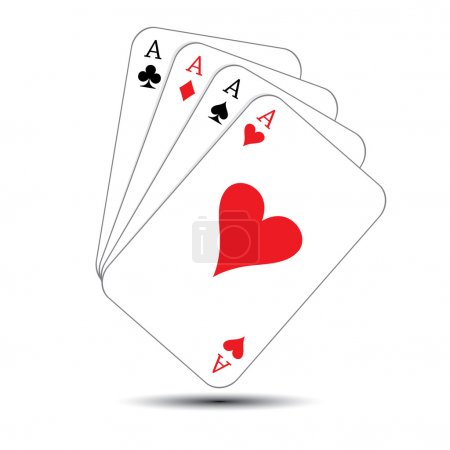 Illustration for Playing Cards- game objects , vector illustration. - Royalty Free Image