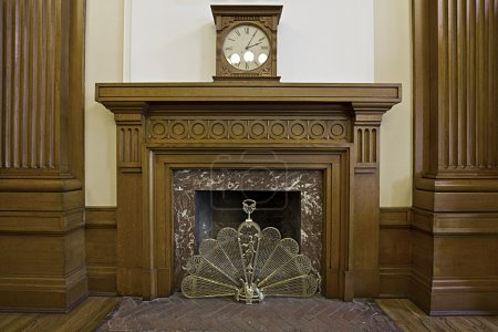Fireplace in Historic Courthouse Building