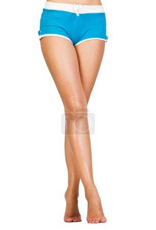 Photo pour Image de jambes féminines lisses et belles - image libre de droit