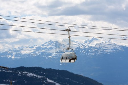 Chair lift at Whistler Peak British Columbia;