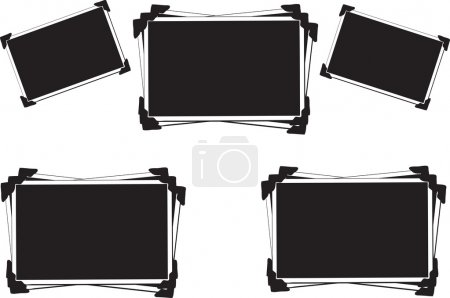 Photo for Collection of Blank Pictures with photo corners - Royalty Free Image