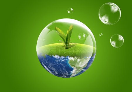 Photo for Eco green earth. New life - Royalty Free Image