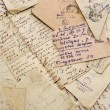 Old letters of the Russian soldier from the Second...